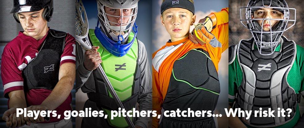 goalies pitchers catchers heart protection